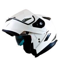 MT Flux Flip Front Helmet - White