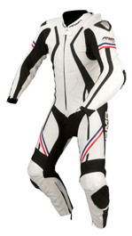 ARMR Moto Harada R 1 Piece Suit - White / Blue / Red