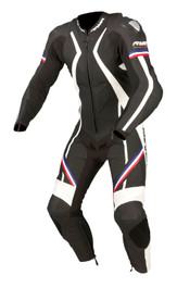 ARMR Moto Harada R 1 Piece Suit - Black / Blue / Red