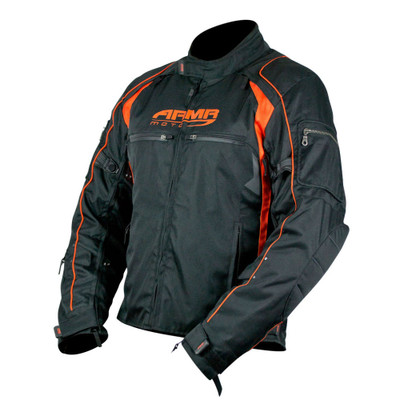 ARMR Moto Ukon Textile Jacket - Black / Orange