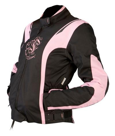 ARMR Moto Jojo Ladies Textile Motorcycle Jacket - Black / Pink