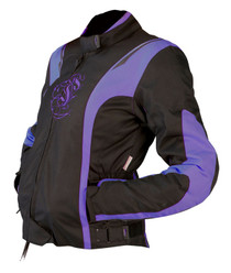 ARMR Moto Jojo Ladies Textile Motorcycle Jacket - Black / Purple