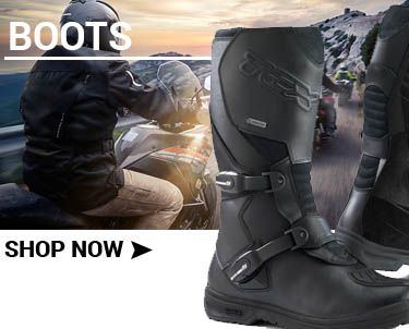 Motorbike boots at Bolt Bikes, Bexhill, East Sussex