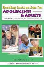 Reading Instruction for Adolescents & Adults