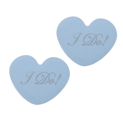 """Tip Toes Bridal Collection - Blue """"I Do!"""" - by Foot Petals"""