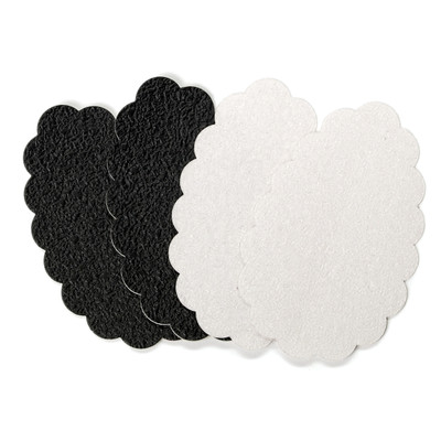 Sole Stopperz Adhesive Treads - Black and Transparent by Foot Petals