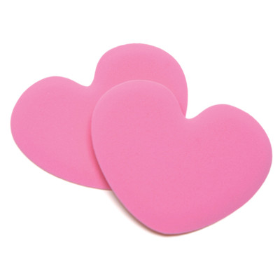 Tip Toes Pink Heart - Ball of Foot Shoe Cushion Insert Pads - by Foot Petals