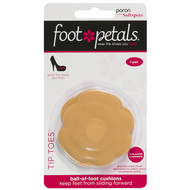 Tip Toes Dual Density - Poron with Soft Spots - Shoe Pad for the Ball of Foot - Buttercup in Packaging - by Foot Petals