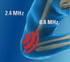 """""""Swing"""" Through the Treatment Range With Our Patented SonoSwing. Lower frequencies (0.8 to 1.5 MHz) are optimally effective at greater depths, while higher frequencies (2.4 to 3.0 MHz) act more on the surface."""