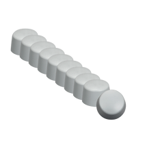 Silicone Cap Set of 10 for Z Wave Q HP Mini Q Applicator Heads.