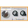 HP Mini Q Hand Piece Applicator Heads 6mm & 15mm - Size Comparison to Standard 39mm