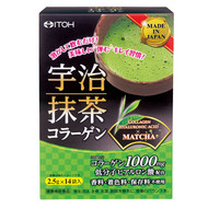 ITOH Collagen 1000mg Hyaluronic Acid Matcha Powder Drink 14 Sachets