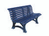 Blue Deluxe Courtsider Bench -  5'