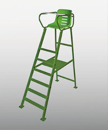 All green aluminum umpire chair