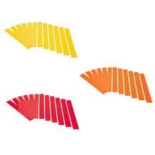 Long Lines-Set of 12, Yellow, Orange, Red