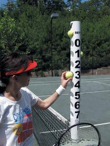 Tennis Ball Scorekeeper White with Black Numbers