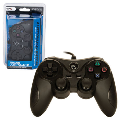PS2 Analog Rumble Controller Pad - Black (TTX Tech)