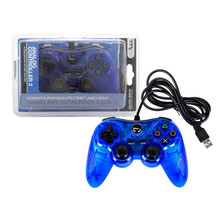 PS2 Analog Rumble Controller Pad - Clear Blue (TTX Tech)