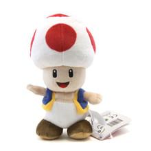 """Red Toad - Super Mario Bros 8"""" Plush (San-Ei) 1417"""