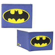 "Blue Batman Logo - DC Comics 4x5"" BiFold Flat Wallet"