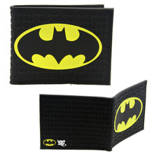 "Black Batman Logo - DC Comics 4x5"" BiFold Flat Wallet"