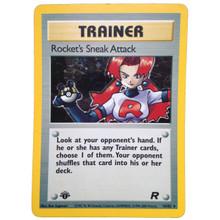Rockets Sneak Attack 1st Edition Team Rocket Set 72/82 Pokemon Card