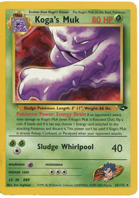 Koga's Muk 26/132 Pokemon Trading Card (Excellent Condition)