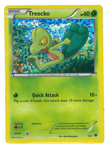 Treecko Holo-Foil 1/12 Pokemon Trading Card (Excellent Condition)