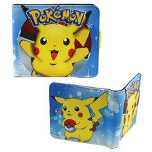 "Pikachu with Pokeball - Pokemon 4x5"" BiFold Wallet With Button"