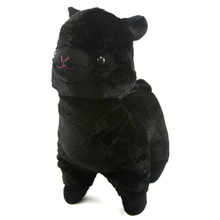 "Black - Alpaca 17"" Plush"