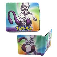 """Mewtwo - Pokemon 4x5"""" BiFold Wallet With Button"""
