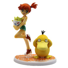 """Misty with Togepi and Psyduck - Pokemon 4"""" Action Figure"""