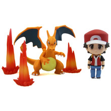 """Red with Charizard - Pokemon 3"""" Droid Action Figure"""