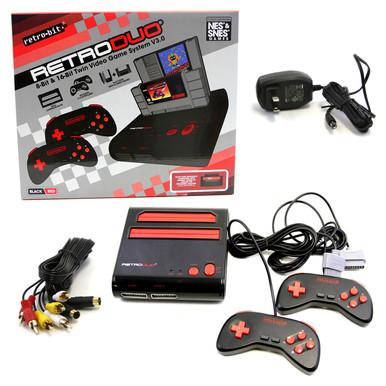 SNES & NES Retro Duo Console System - Red Black (Retro-Bit) RB-RD-1279
