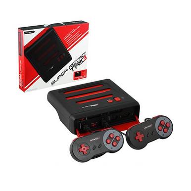 SNES Genesis & NES Super Retro Trio SR3 Console Red Black (Retro-Bit)