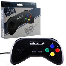 SNES Super Retro Controller Pad - Solo - Black (Retro-Bit)