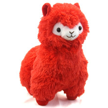"Red - Alpaca 13"" Plush"