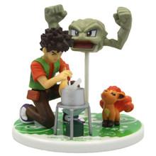 """Brock with Geodude and Vupix - Pokemon 4"""" Action Figure"""