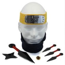Naruto Cosplay Set - Headband, Facemask, Kunai, Throwing Star, & Ring