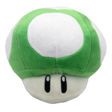 "1UP Green Mushroom - Super Mario Bros 5"" Plush"