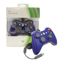Xbox 360 Wired Analog Controller Pad - Blue (Hexir)