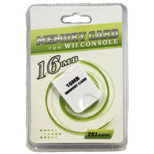 Gamecube Memory Card 16 MB 251 Blocks (Hexir)