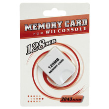 Gamecube Memory Card 128 MB 2043 Blocks (Hexir)