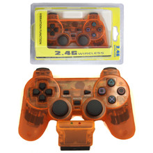 PS2 2.4 GHz Wireless OG Controller Pad - Clear Orange (Hexir)