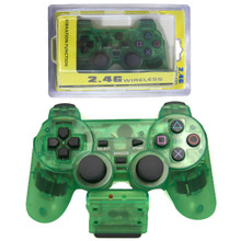PS2 2.4 GHz Wireless OG Controller Pad - Clear Green (Hexir)