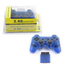 PS2 2.4 GHz Wireless OG Controller Pad - Clear Blue (Hexir)