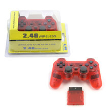 PS2 2.4 GHz Wireless OG Controller Pad - Clear Red (Hexir)