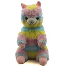 "Sitting Rainbow Alpaca - Alpaca 16"" Plush"