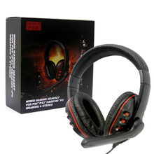 PS4/PS3/Xbox 360/PC Universal Wired Pro Gaming Headset - Black (Hexir)