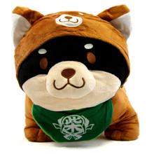 "Black Pup, Brown Hood - Shiba Inu 10"" Plush"